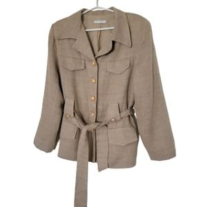 Walter linned and belted jacket NWT